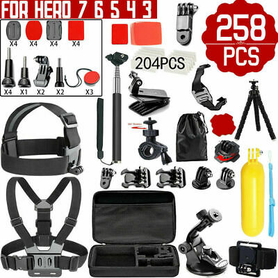 AU32.99 • Buy GoPro Hero 258pcs Accessories Pack Case Chest Head Floating Monopod 7 6 5 4 3 AU