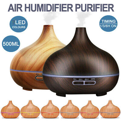 AU25.99 • Buy 550ml Air Humidifier Purifier Essential Oil Diffuser Aroma Aromatherapy Lamp LED