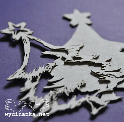 Chipboard Die Cut-out Christmas Tree Wooden Craft Shape Sentiment Card • 1.70£