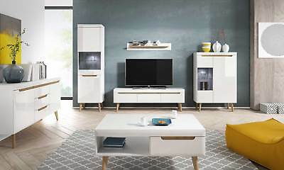 Living Room Furniture Display TV Cabinet Unit Wall Floor Standing Float Gloss • 159£