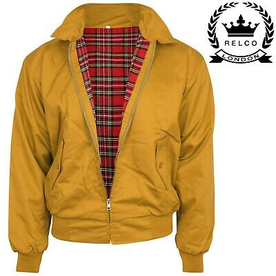 Relco NEW Mustard Yellow Harrington Jacket Skin Mod Scooter Ska Northern Soul  • 34.99£