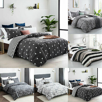 £18.99 • Buy Duvet Cover Bedding Set + Pillowcase Single Double King Size Stylish Quilt Cover