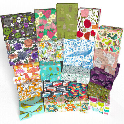 £14.95 • Buy Luxury 100% Recycled Birthday Gift Wrap Wrapping Paper & Tags By Rosie Parkinson