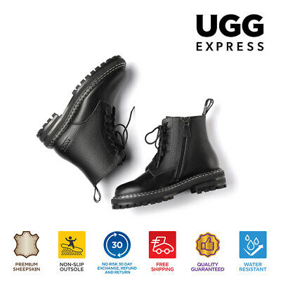 AU125 • Buy AS UGG Women's Ankle Martin Boots Lucinda,Zip Up Leather Boot