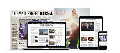$105.99 • Buy Wall Street Journal 1-YEAR WSJ Print & Digital Subscription *STARTS IN 5 DAYS*