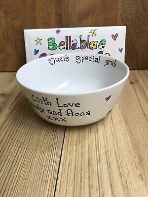 £7.50 • Buy Hand Painted Personalised Cereal Bowls, Choice Of Designs