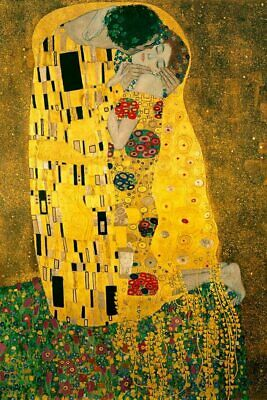 $ CDN13.15 • Buy Gustav Klimt The Kiss 1908 Symbolism Art Print Poster 24x36