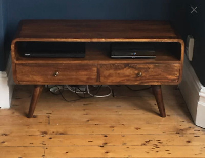 Vintage TV Stand Modern Scandinavian Style Solid Wood Media Cabinet Danish Unit • 159.80£