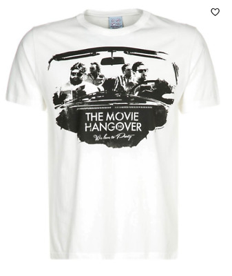 Mens , The Hangover Movie 'We Love To Party' Printed White T-shirt Size XXL • 9.99£