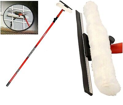 3.5m Telescopic Conservatory Window Glass Cleaner Cleaning Kit Wash Squeegee New • 11.65£