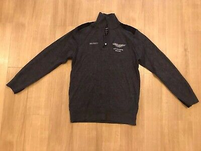 Aston Martin Racing Hackett Team Issue Zip Neck Grey Jumper Size M, LeMans • 35£