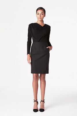 $ CDN150.31 • Buy MM M.M. LaFleur Black & Dark Grey Mixed Media Akiko Dress 10 EUC