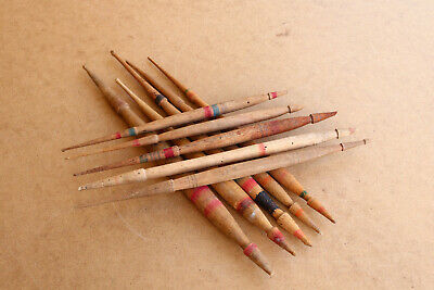 $26.01 • Buy Old Antique Primitive Wooden Wood Spindles Yarn Spinning Threads Rustic Ranch.