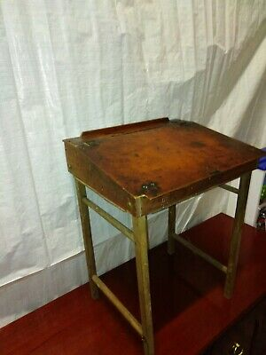 Childs School Desk And Bench Antique  • 28.50£