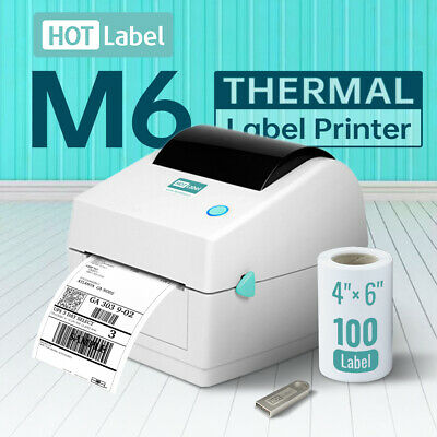 AU169 • Buy 【HotLabel®】Label Printer Thermal Shipping Address Barcode 4*6 150mm*100 FreeRoll