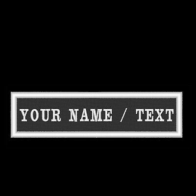 Custom Personalised Name Tag Text Patches - Embroidered Cloth Badge Single Line. • 2.95£