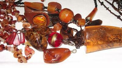 $ CDN150 • Buy Huge Lot Of Vintage To Newer AMBER Jewelry.  9 Pcs + 8 Loose Beads.  #204