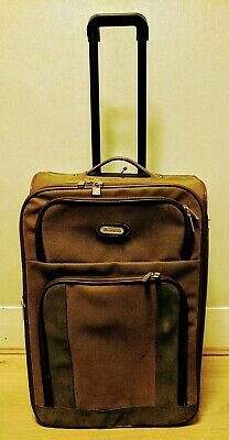Compass Suitcase Brown & Green With 2 Wheels • 20£