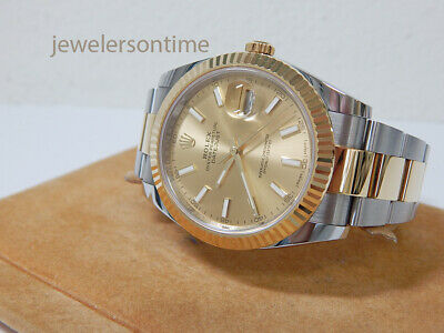 $ CDN13797.09 • Buy 2018 Rolex Datejust II SS/18K YG 41mm Champagne Sticks, Warranty Card 116333