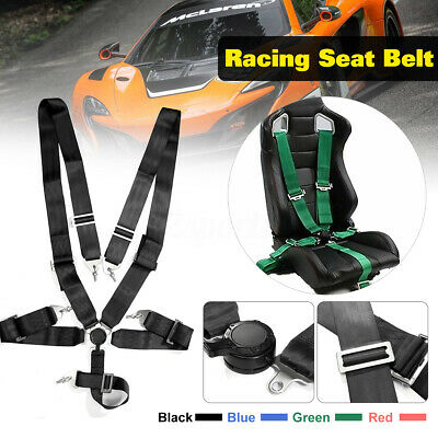 AU96.97 • Buy 3''5 Point Car Racing Bucket Seat Belt Safety Harness Quick Release Fixing Sport