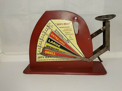 $65 • Buy Antique Dekalb Chix Jiffy Way Egg Scale Vintage Farm Tool Chicken Illinois Il