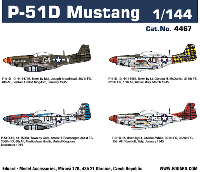 Eduard 4467 1:144th Scale Super 44 Edition P-51D Mustang • 9.99£