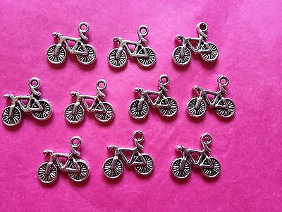 Tibetan Silver Bike/Cycle/Bicycle Charms - 10 Per Pack  • 1.25£