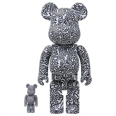 $360 • Buy Medicom BE@RBRICK Keith Haring #4 100% 400% Bearbrick Figure Set