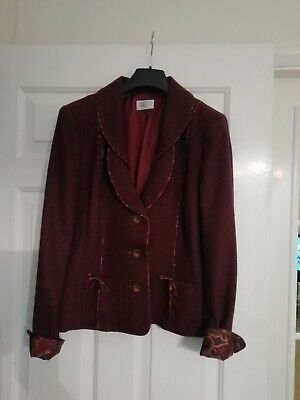 Lovely Caroline Charles Russet 3 Button Jacket - Size 12 - Brand New • 79.99£