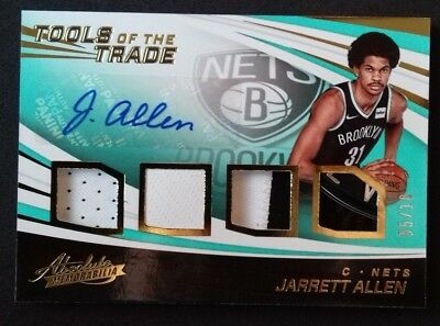AU81.68 • Buy 2017-18 Panini Absolute - Tools Of The Trade Level 3 - Jarrett Allen /10