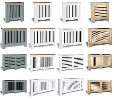 £31.90 • Buy Radiator Cover White Small Large Modern Traditional Wood Grill Cabinet Furniture