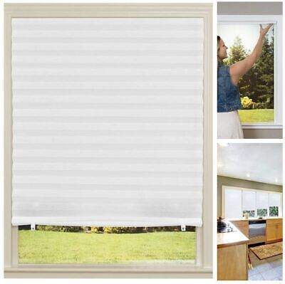 "$21.45 • Buy Light Filtering Pleated Fabric Shade White 48"" X 72"" DIY Window Cover Home RV"