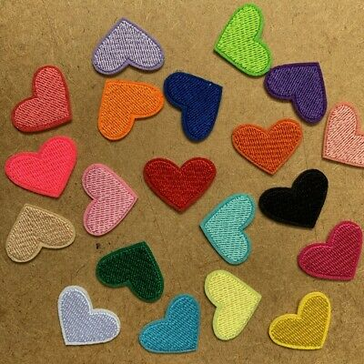 AU12.95 • Buy 5/20pc Heart Embroidered Cloth Iron On Patch Applique Craft Love Valentine #1744