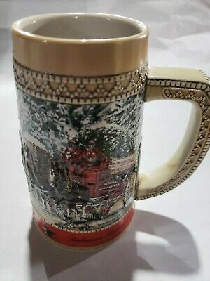 $ CDN19.13 • Buy 1987 Budweiser Holiday Stein C Series Excellent Condition - See Pics - Fast Ship
