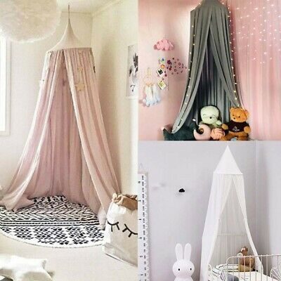 Kids Baby Bed Canopy Bedcover Mosquito Net Curtain Bedding Dome Tent Room Decor • 14.98£