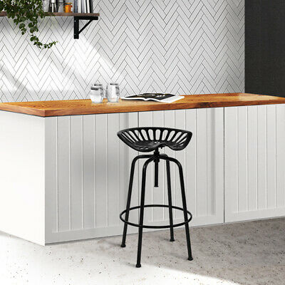 AU147.13 • Buy Artiss 1x Kitchen Bar Stools Tractor Stool Chairs Industrial Vintage Retro Swive