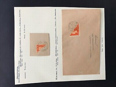 Guernsey 1940's One Bisect Stamp FDC Cover And 1 Bisect On Piece Fine. • 3.86£