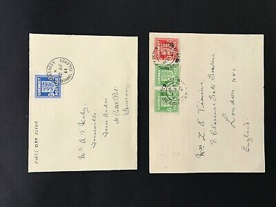 Guernsey 1945/1944 Two Stamped Covers One With Liberation Commemoration On Rever • 6.50£
