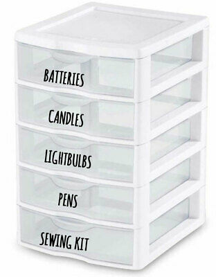 Vinyl Stickers, Labels For Small Storage Boxes, Tubs, Jars, Make-Up, Utility • 1.65£