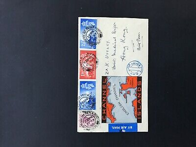 1948 Guernsey Illustrated FDC With Stamp Set & Definitive Stamp. • 0.99£