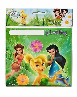 £2.83 • Buy Tinkerbell Happy Birthday Party Loot Goodie Favor Bags Disney Brand New 8 Piece