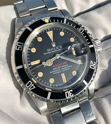 $ CDN25116.08 • Buy 1974 Rolex Red Submariner 1680 Vintage Patina 3.6M Serial - Fat Font Insert!