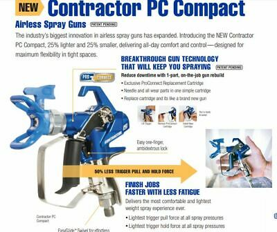 New Graco Contractor PC Compact Airless Paint Spray Gun 19Y349 17Y043 288420 • 203.86£