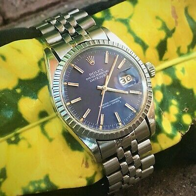 $ CDN5831.32 • Buy 78' Rolex BLUE DIAL 16030 DATEJUST Caliber 3035 Mens 36mm Jubilee NEVER POLISHED