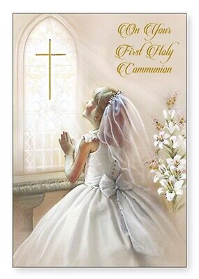£1.99 • Buy First Holy Communion Card Communion Blessing FHC Card Girls