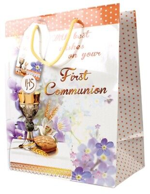 £2.99 • Buy First Holy Communion Gift Bag Medium Best Wishes Your First Communion Boys Girls
