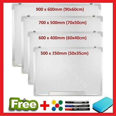 Magnetic Whiteboard Small Large White Board Dry Wipe Office Home School Notice • 13.95£
