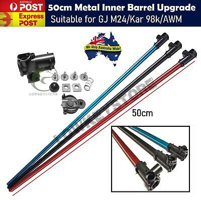 AU29.99 • Buy Upgrade 50cm Metal Inner Barrel + T-piece Alloy Tube GJ M24 AWM 98k Gel Blaster