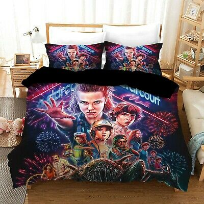 AU32.90 • Buy Stranger Things Quilt/Duvet/Doona Cover Set Single Double Queen King Size