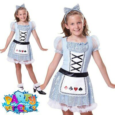 £5.99 • Buy Kids Girls Alice Costume Tea Party Costume Book Day Week Fancy Dress Outfit
